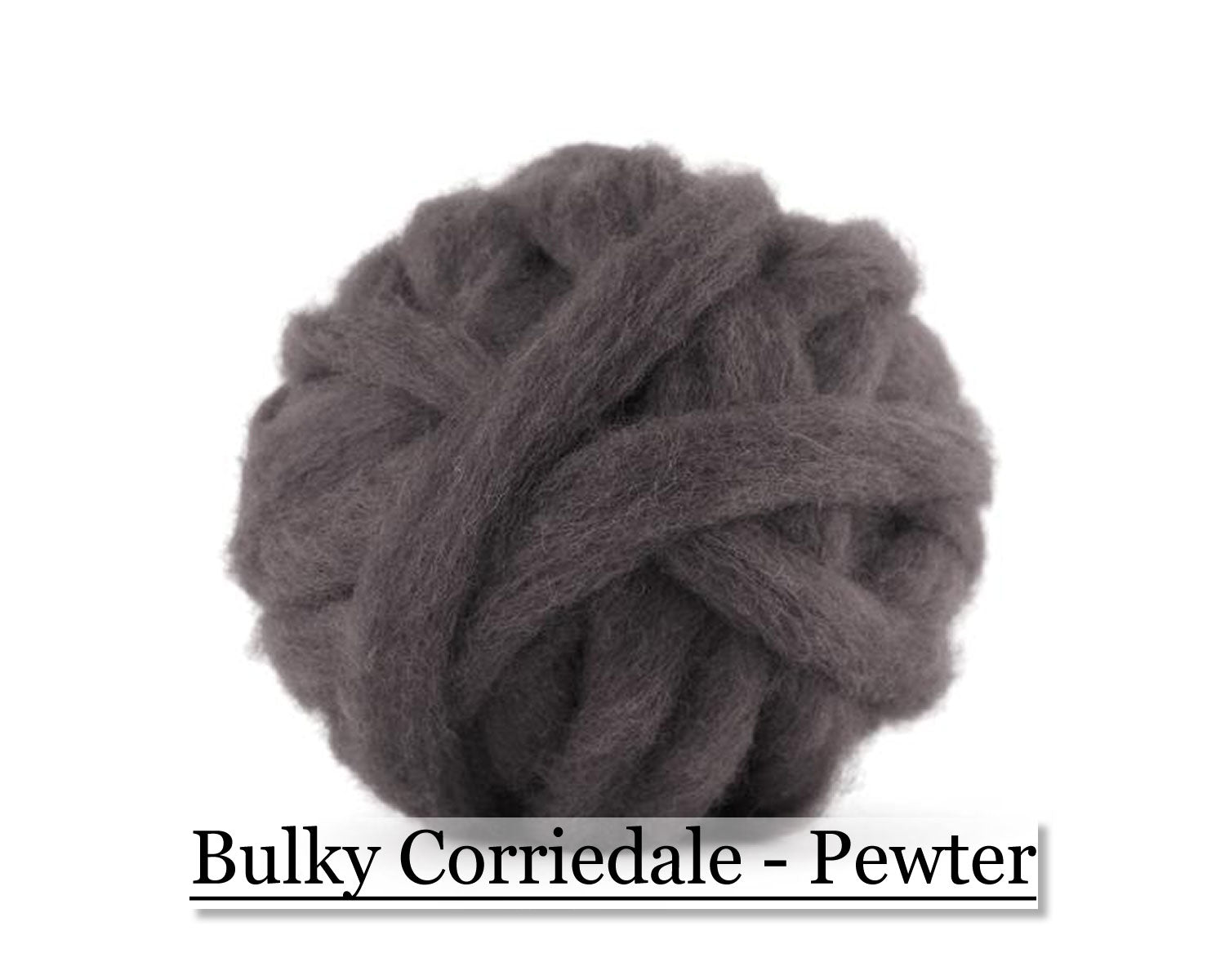 Pewter - Corriedale Wool Roving - Corriedale Wool Sliver - 16oz