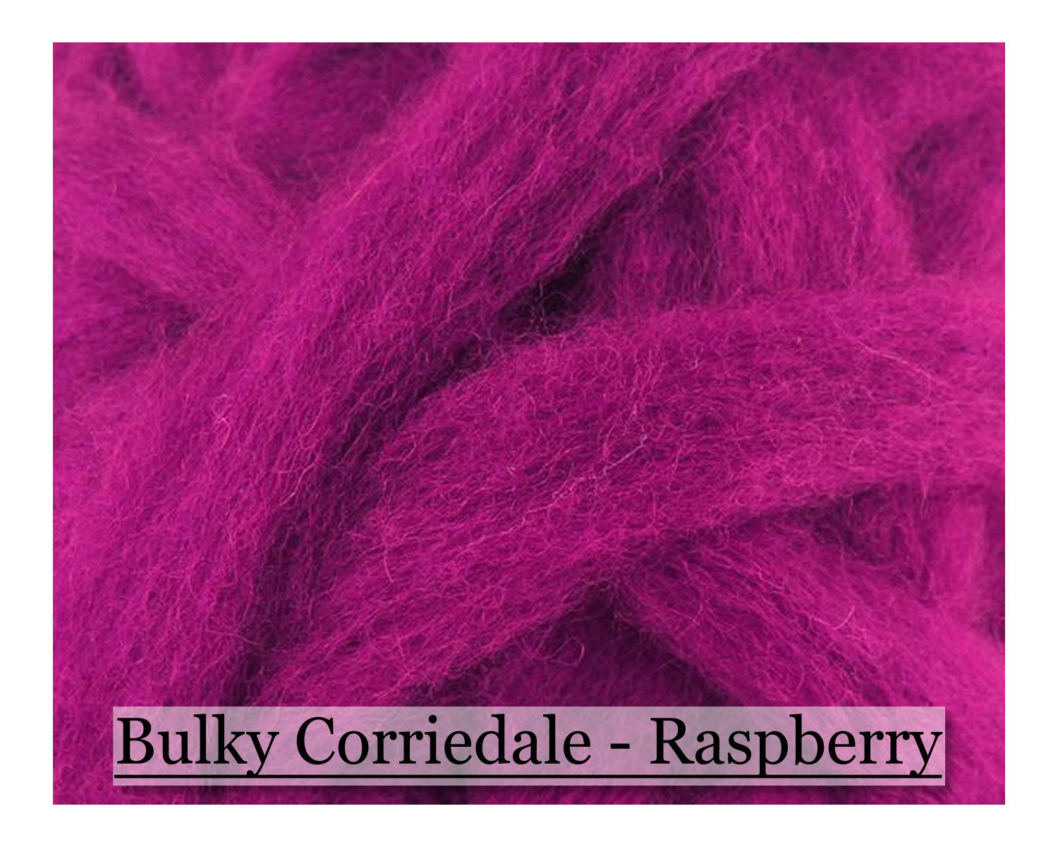 Raspberry - Corriedale Wool Roving - Corriedale Wool Sliver - 16oz