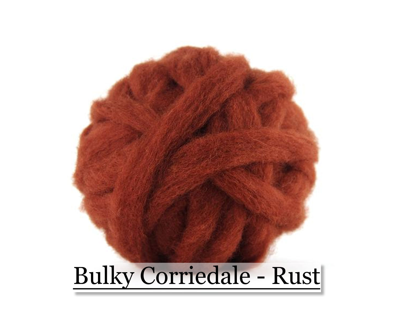 Rust - Corriedale Wool Roving - Corriedale Wool Sliver