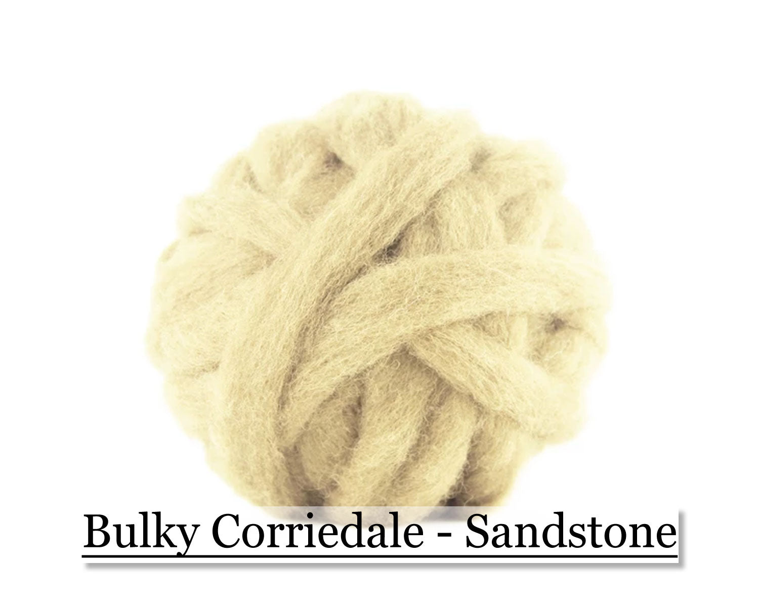 Sandstone - Corriedale Wool Roving - Corriedale Wool Sliver - 16oz
