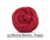 Poppy -  Merino Wool Top - 23 Micron