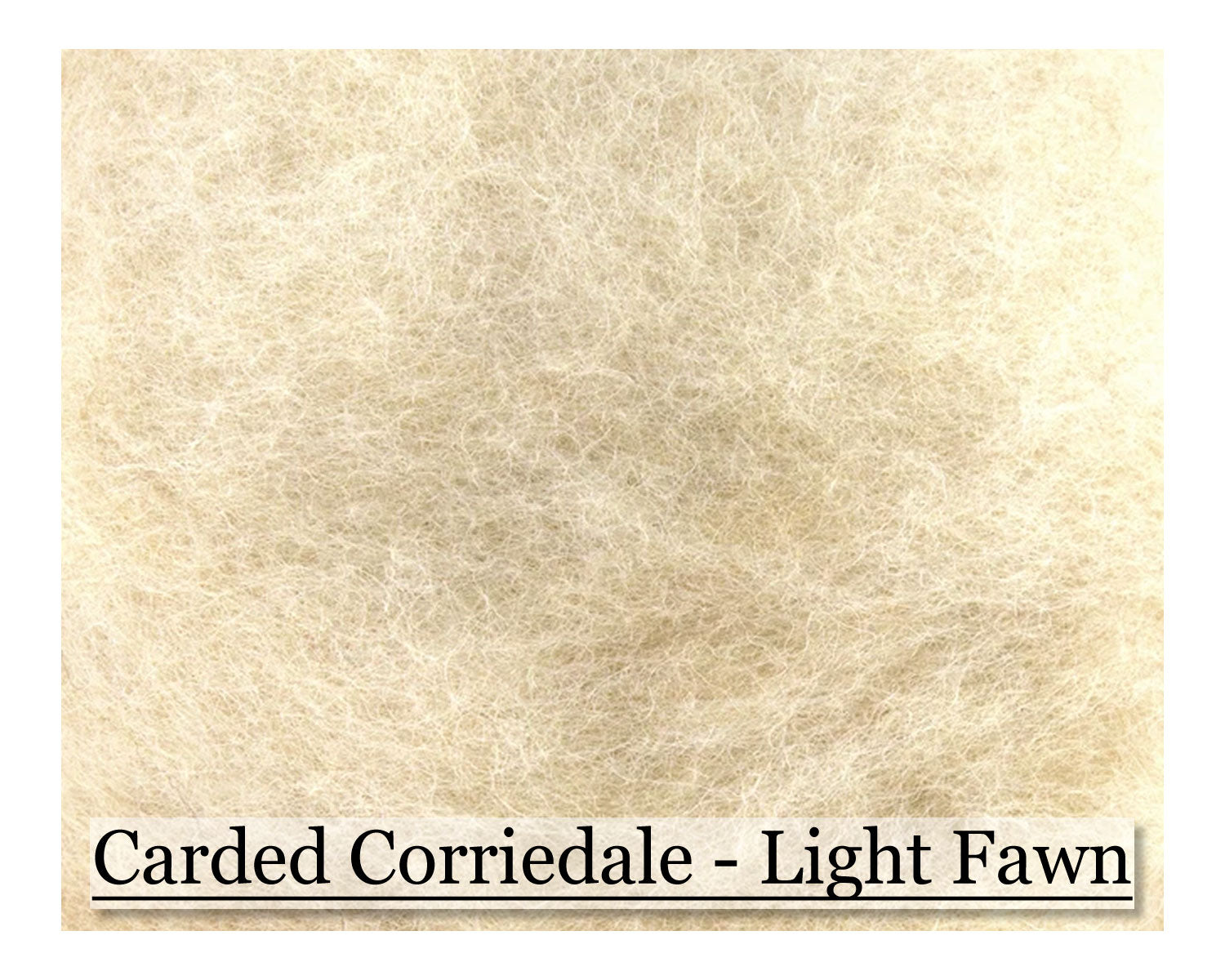 Light Fawn - Corriedale Wool Roving - Corriedale Wool Sliver