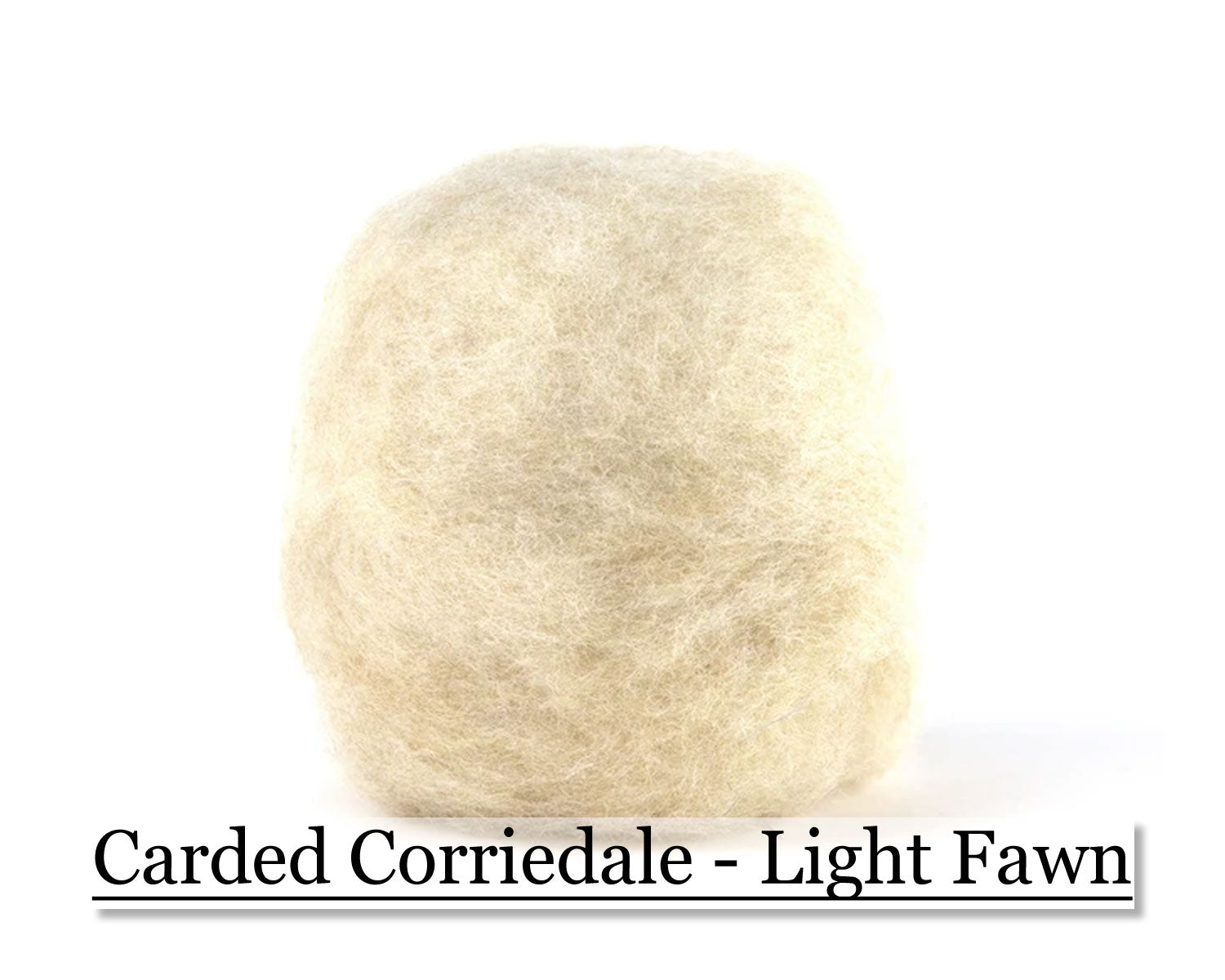 Light Fawn - Corriedale Wool Roving - Corriedale Wool Sliver - 16oz