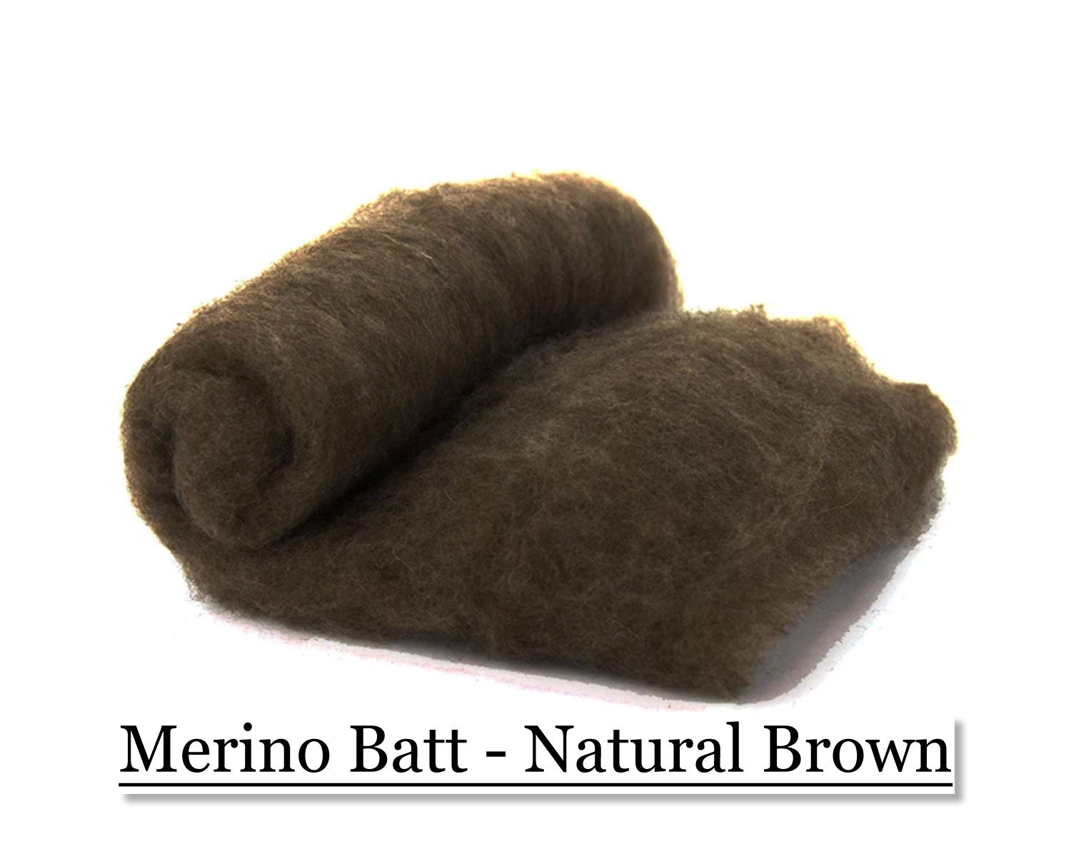 Merino Batt - Natural Brown - 200 grams