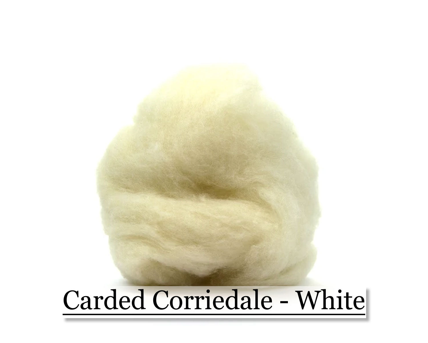 White - Corriedale Wool Roving - Corriedale Wool Sliver - 16oz