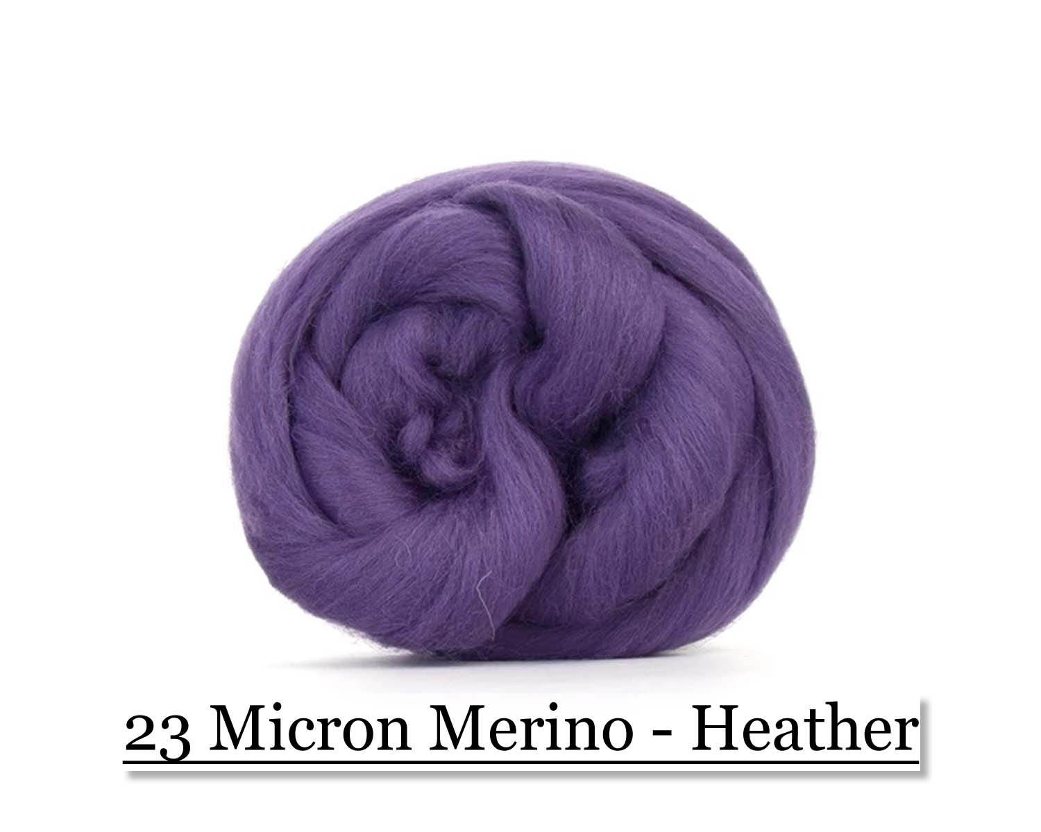 Heather -  Merino Wool Top - 23 Micron