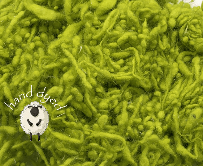 Chartreuse - Wool Slubs - Hand Dyed- 1 Ounce