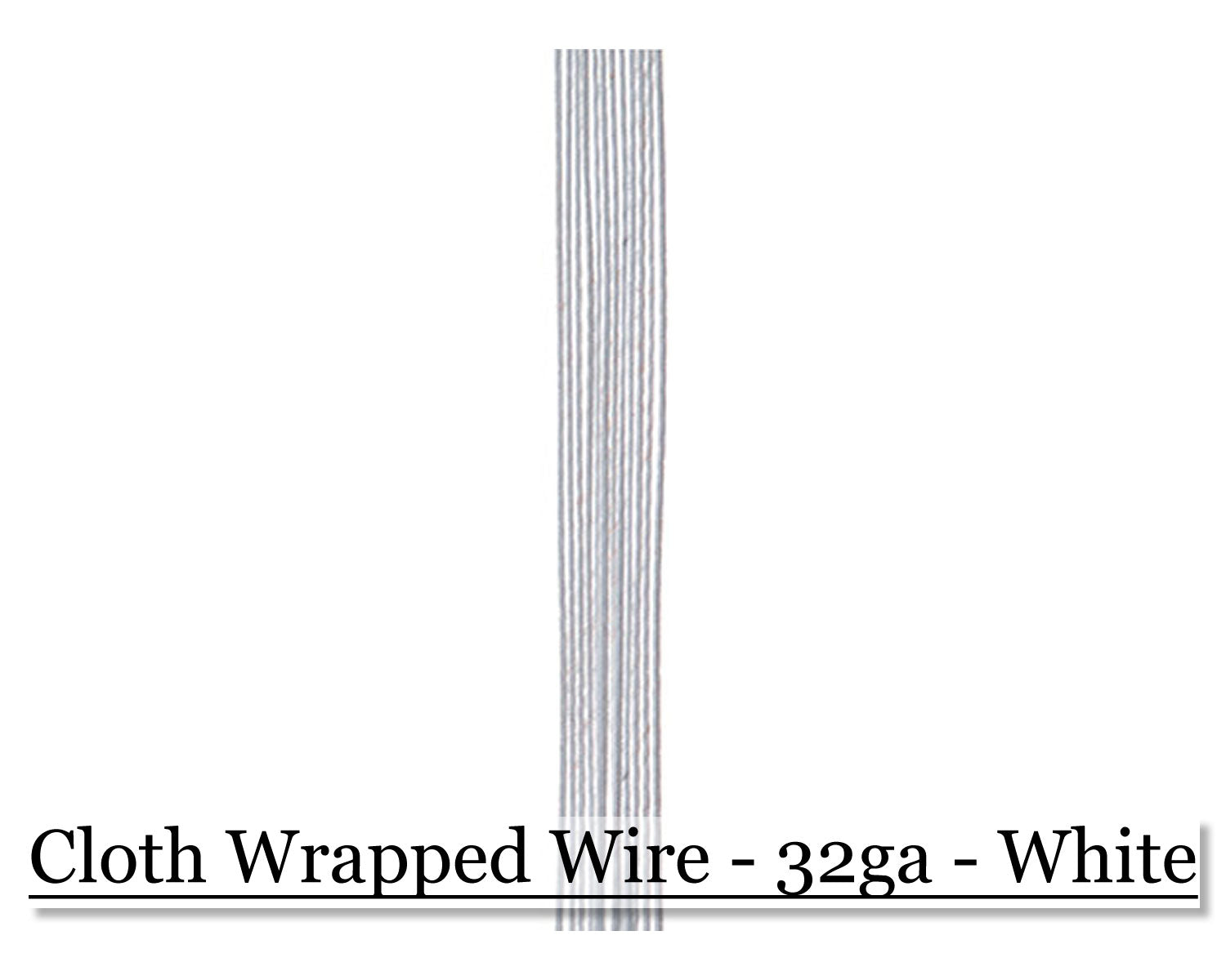 Cloth wrapped wire 32ga - White