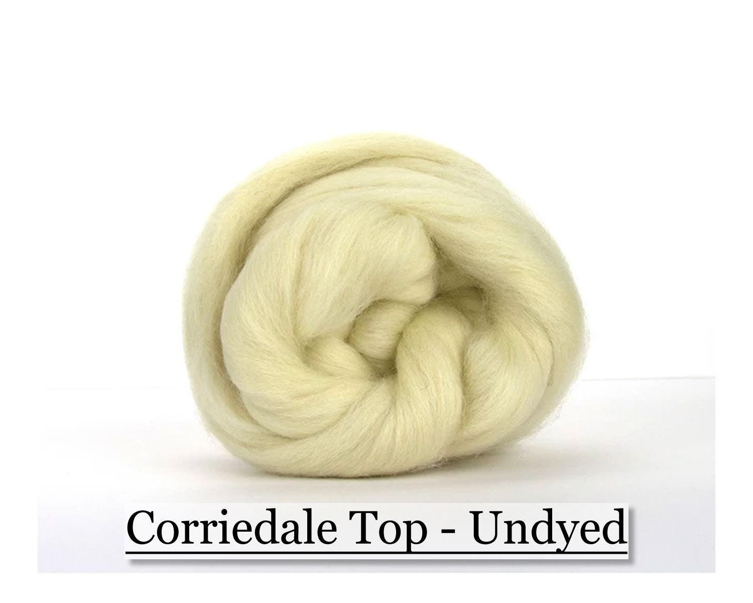 White Corriedale Top - 1, 2 or 4 oz size