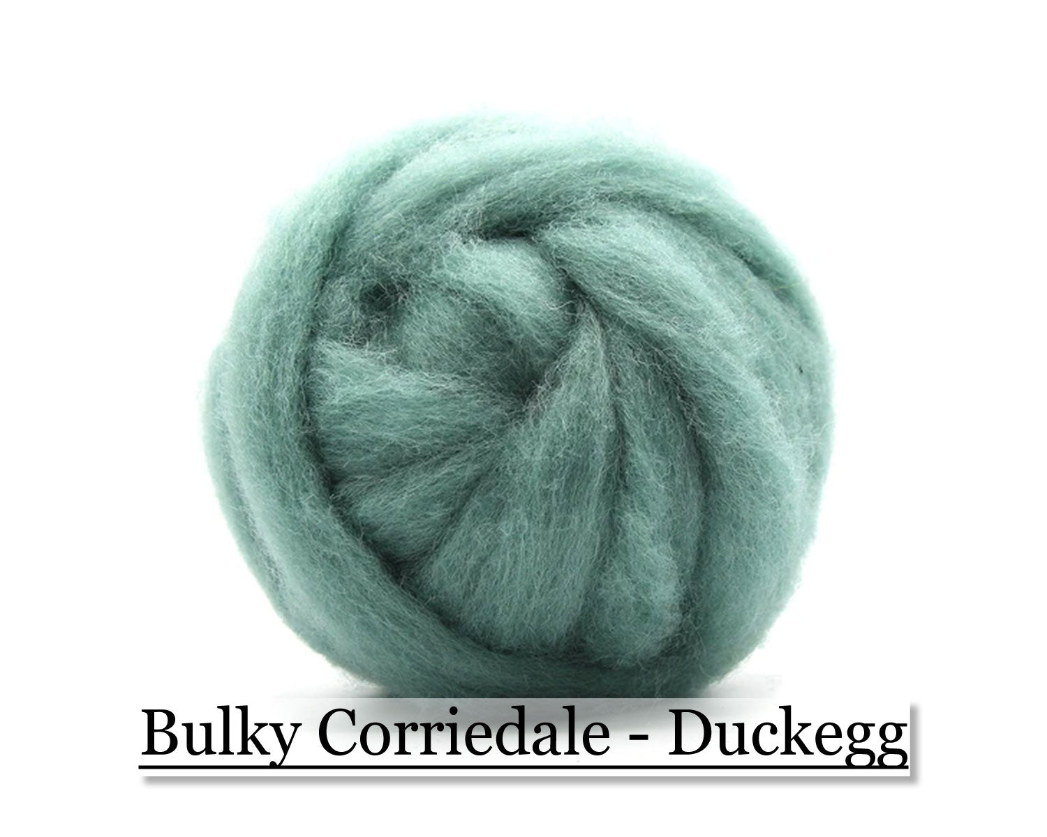 Duck Egg - Corriedale Wool Roving - Corriedale Wool Sliver - 16oz