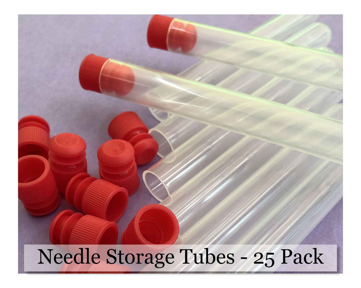 Felting Needle Storage Tube with Cap - 25 Pack