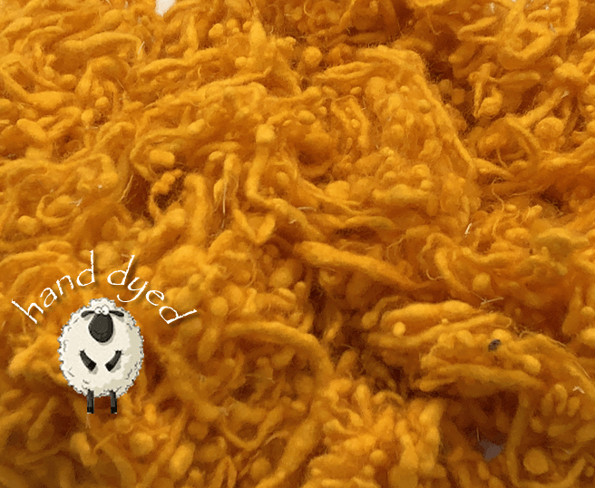 Golden Poppy - Wool Slubs - Hand Dyed- 1 Ounce