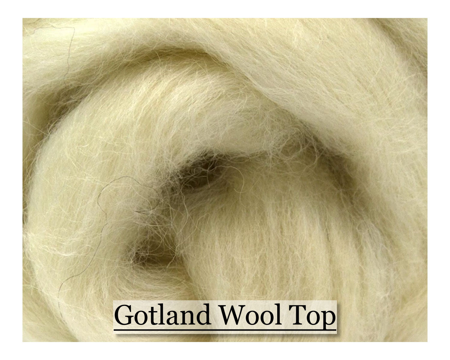White Gotland Wool Top - 1, 2 or 4 oz size