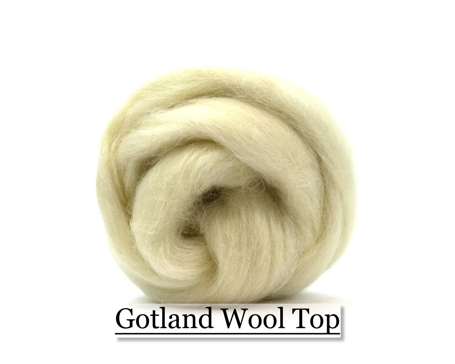 White Gotland Wool Top - 16 oz