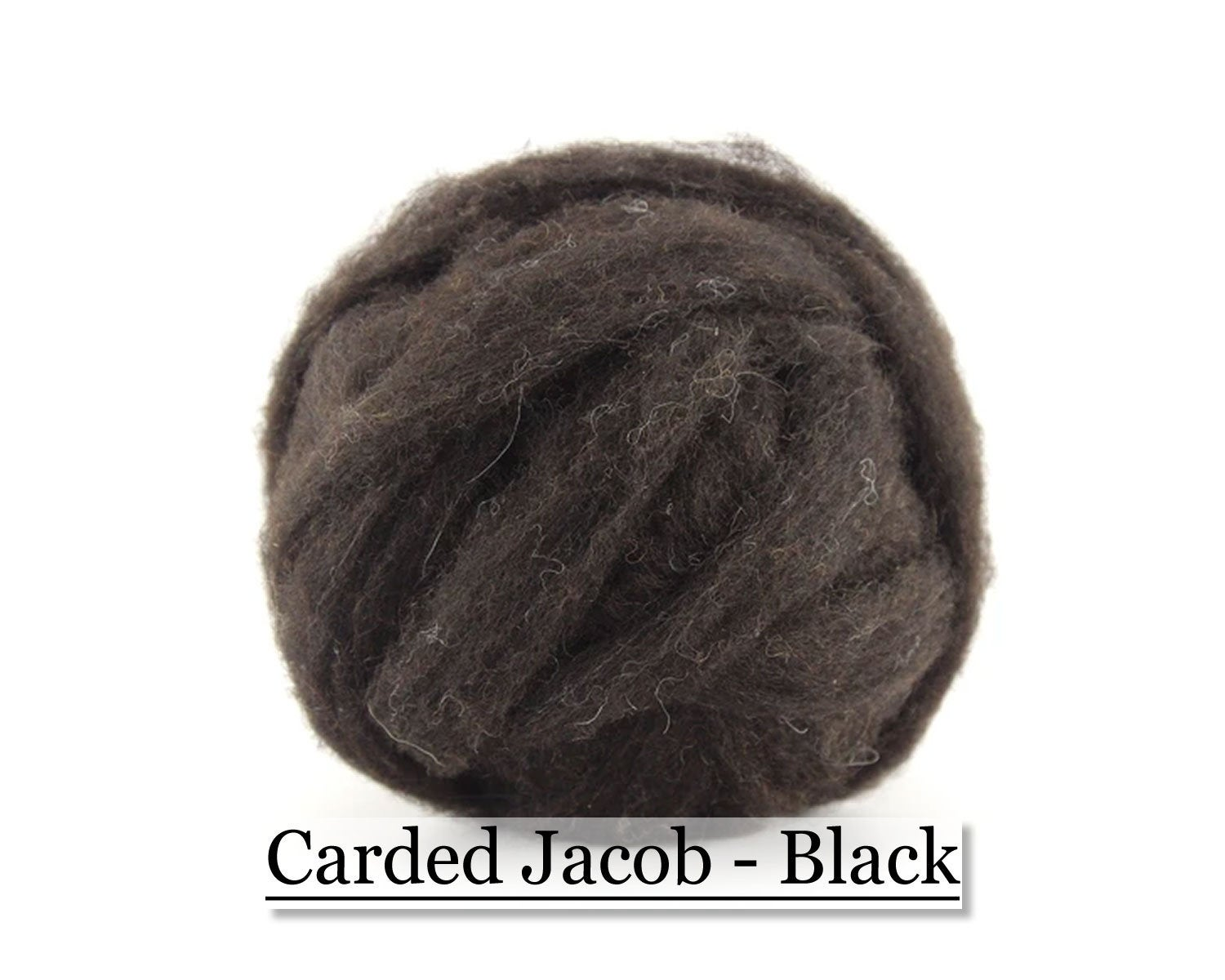 Jacob Sliver - Black - Needle Felting - Spinning - Wet Felting - Nuno Felting - Wet Felting - 16oz