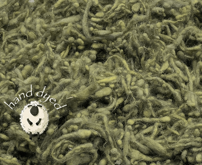 Lichen - Wool Slubs - Hand Dyed- 1 Ounce