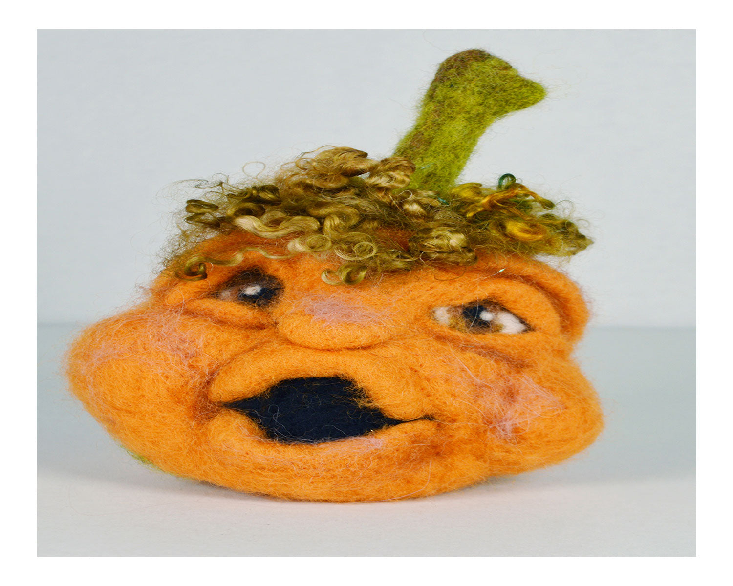 White Face Pumpkin Needle Felting Kit