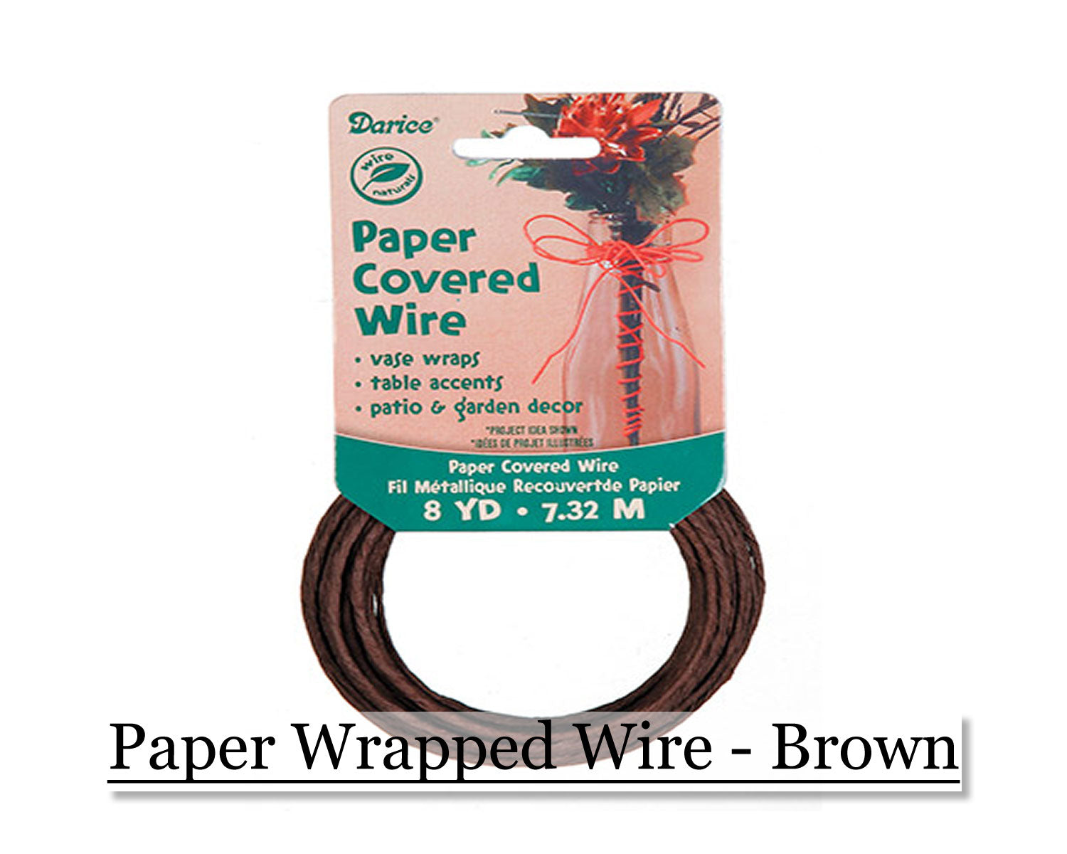Paper wrapped wire - Brown