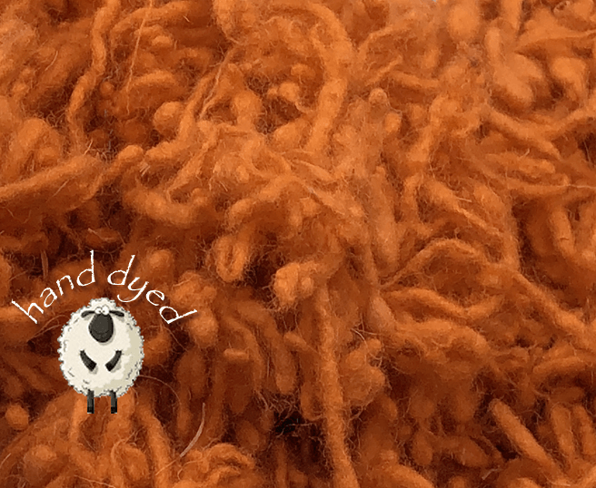 Persimmon - Wool Slubs - Hand Dyed- 1 Ounce