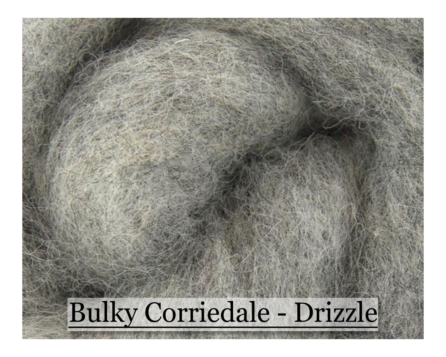 Thunder - Bulky Corriedale Wool - Shades of Grey Series - 16oz