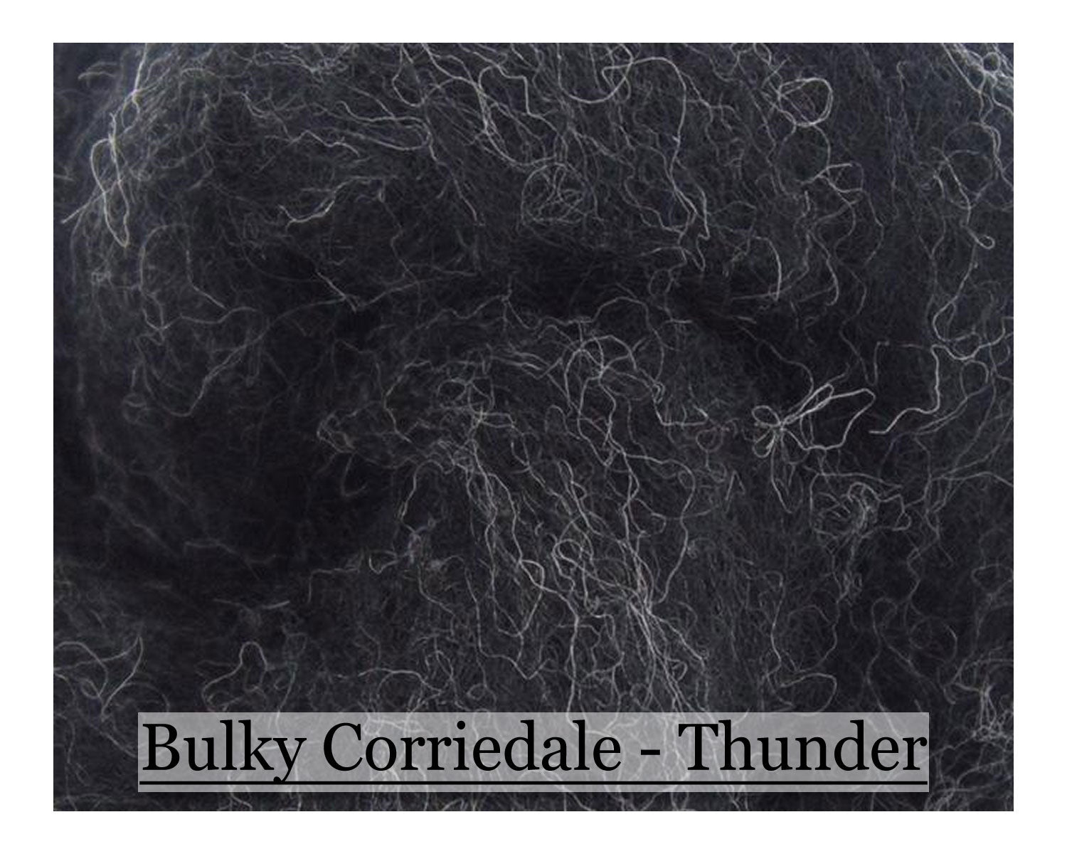 Tornado - Bulky Corriedale Wool - Shades of Grey Series - 16oz