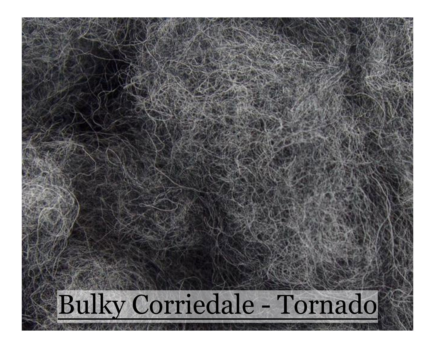 Tornado - Bulky Corriedale Wool - Shades of Grey Series - 8oz