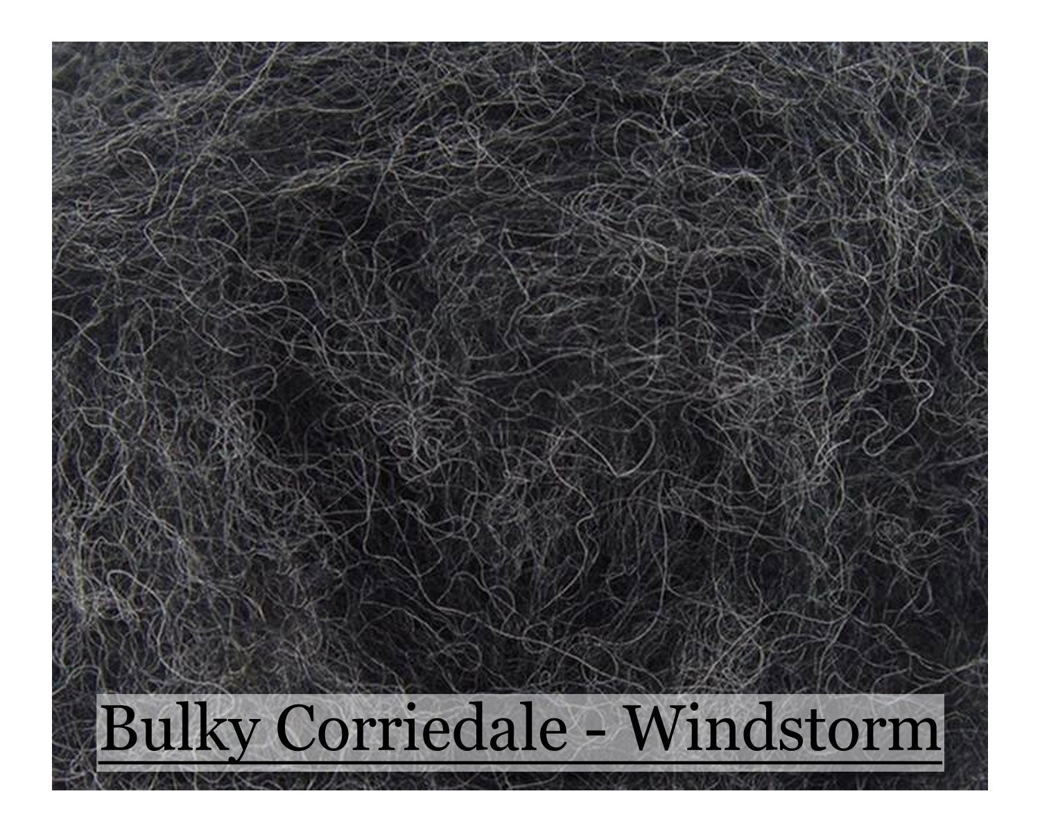Windstorm - Bulky Corriedale Wool - Shades of Grey Series - 16oz