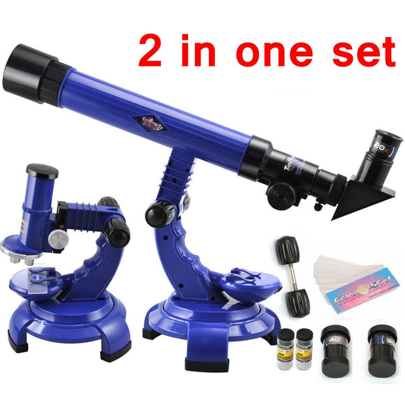 2-in-1 Telescope and Microscope Set