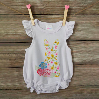 Ruffle Baby Romper Easter