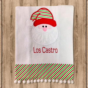 "Toalla de Cocina Decorativa ""Kitchen Towels"" con Cara de Santa Claus"