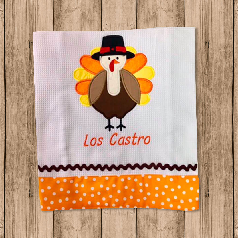 "Toalla de Cocina Decorativa ""Kitchen Towel"" con Figura de Pavo Real"