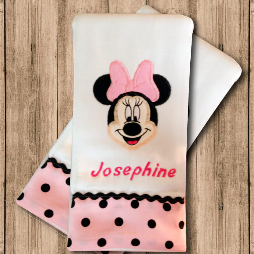 Pañito de Bebe Minnie Mouse