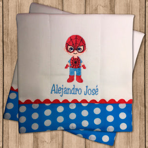 Pañito de Bebe Spiderman
