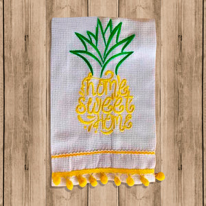 "Toalla de Cocina Decorativa ""Kitchen Towels"" con Figura de Piña"