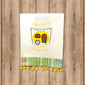 "Toalla de Cocina Decorativa ""Kitchen Towel"" con Figura de Trailers"