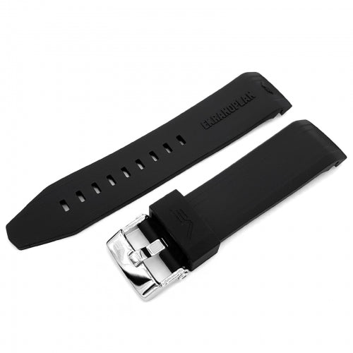 EKRANOPLAN BLACK SILICONE STRAP 25mm - POLISHED BUCKLE