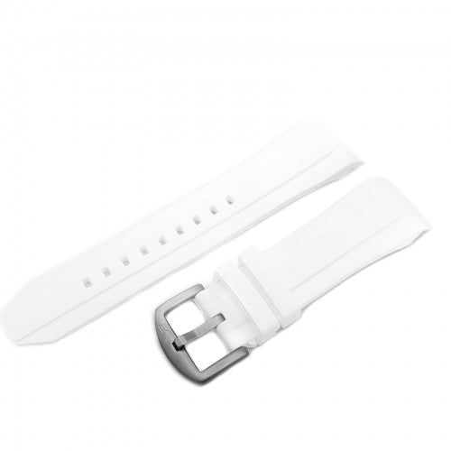 EKRANOPLAN WHITE SILICONE STRAP 25mm - MATT BUCKLE