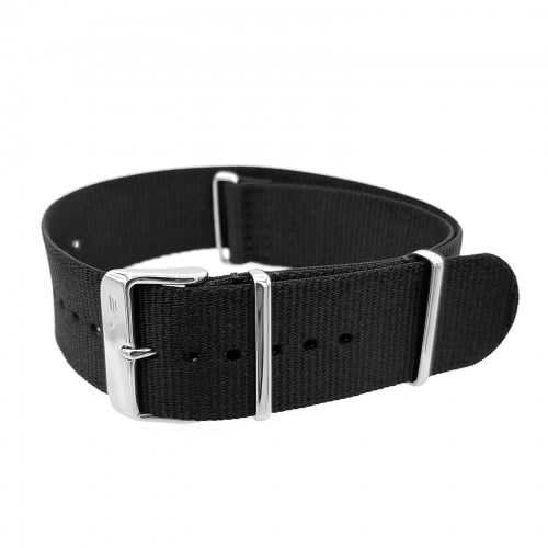EXPEDITION NP1 / EVEREST BLACK NYLON STRAP 24mm - POLISHED BUCKLE