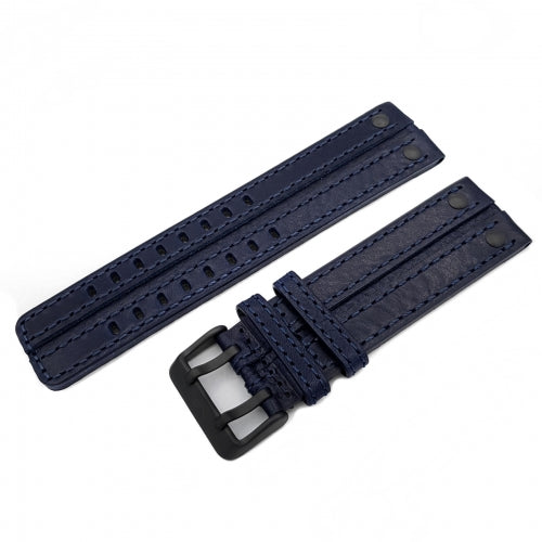 EXPEDITION NP1 / EVEREST BLUE LEATHER STRAP 24mm - BLACK BUCKLE