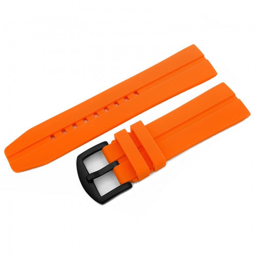 EXPEDITION NP1 / EVEREST ORANGE SILICONE STRAP 24mm - BLACK BUCKLE