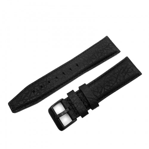GAZ-14 BLACK LEATHER STRAP 23mm - BLACK BUCKLE