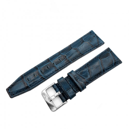 GAZ-14 OPEN BALANCE BLUE LEATHER STRAP 23mm - POLISHED BUCKLE