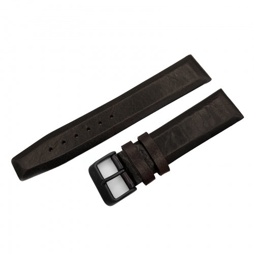 WORLD TIMER / POWER RESERVE DARK BROWN LEATHER STRAP 22mm - BLACK BUCKLE