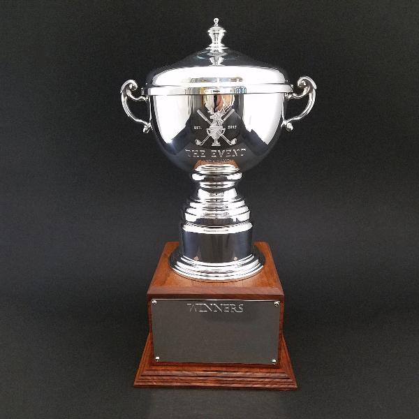 Engraved Perpetual Cup with Wood Base