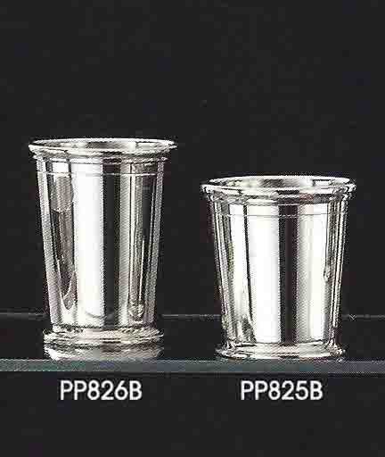 Comparison of the 8 oz and 10 oz Pewter Sterling Silver Mint Julep Cups