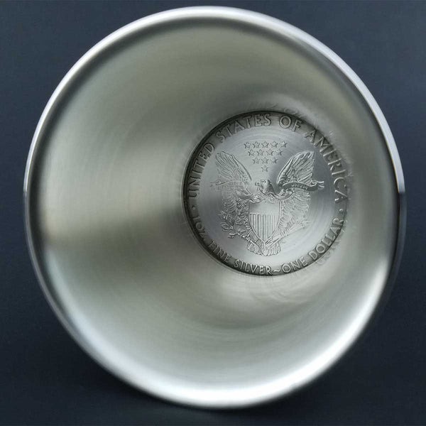 Silver Dollar Shot Glass American Eagle