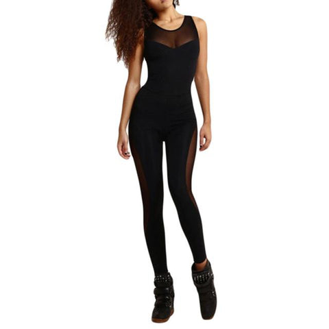 One Piece Sheer Mesh Fitness Jumpsuit Push To Live Smart