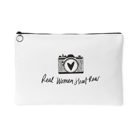 """Real Women, Shoot Raw"" Accessory Pouch"