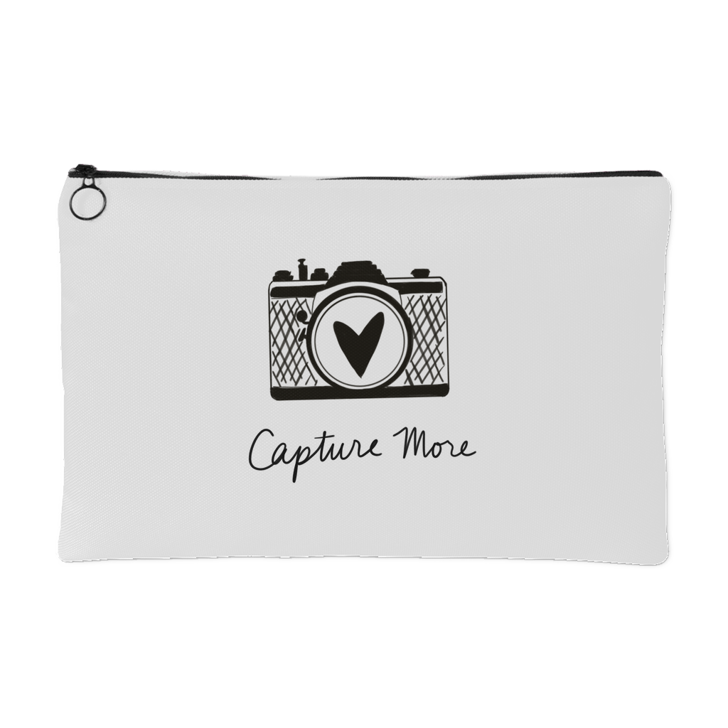 """Capture More"" Accessory Pouch (black camera)"