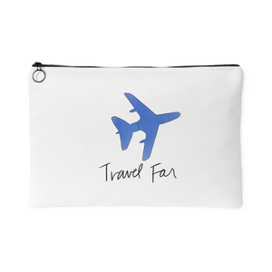 """Travel Far"" Accessory Pouch (Blue)"